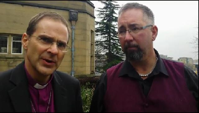 Bishop Toby meeting with Mike Haines