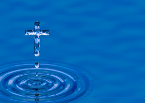 Water used in baptism
