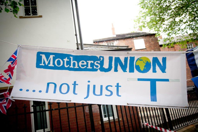 Mothers' Union Not just T banner