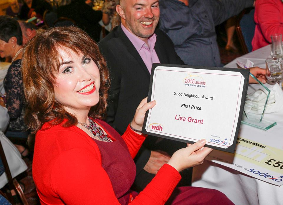 Lisa Grant with her First Prize certificate at the Awards ceremony