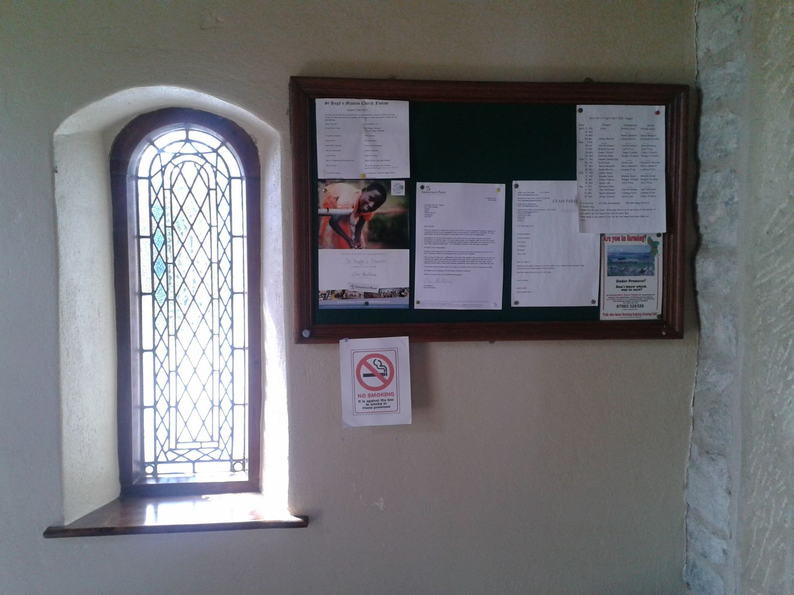 Bad example of a church notice board