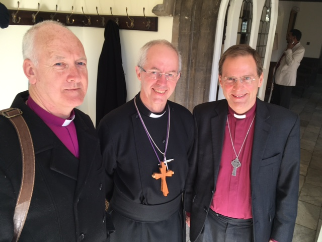 Bishop Nick with the Archbishop of Canterbury and the Bishop of Bradford