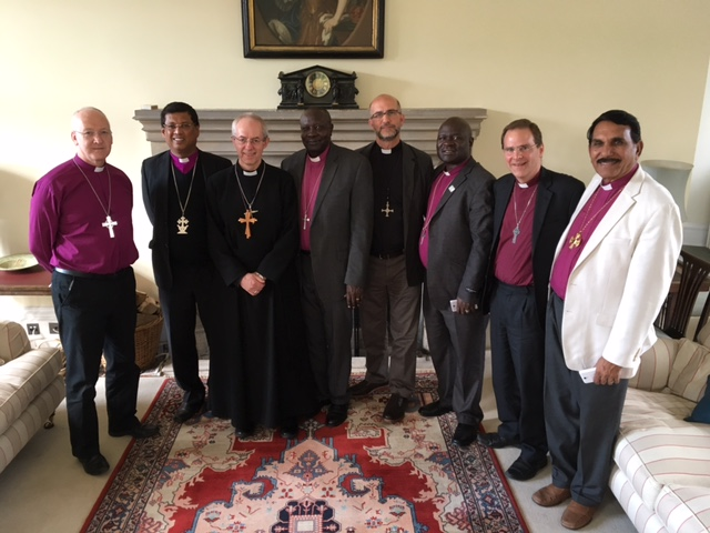 The Archbishop of Canterbury with Bishop Nick and Leeds Diocese Link Bishops