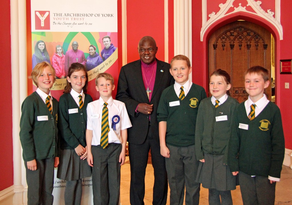 Ripon Cathedral School Pupils with Archbishop