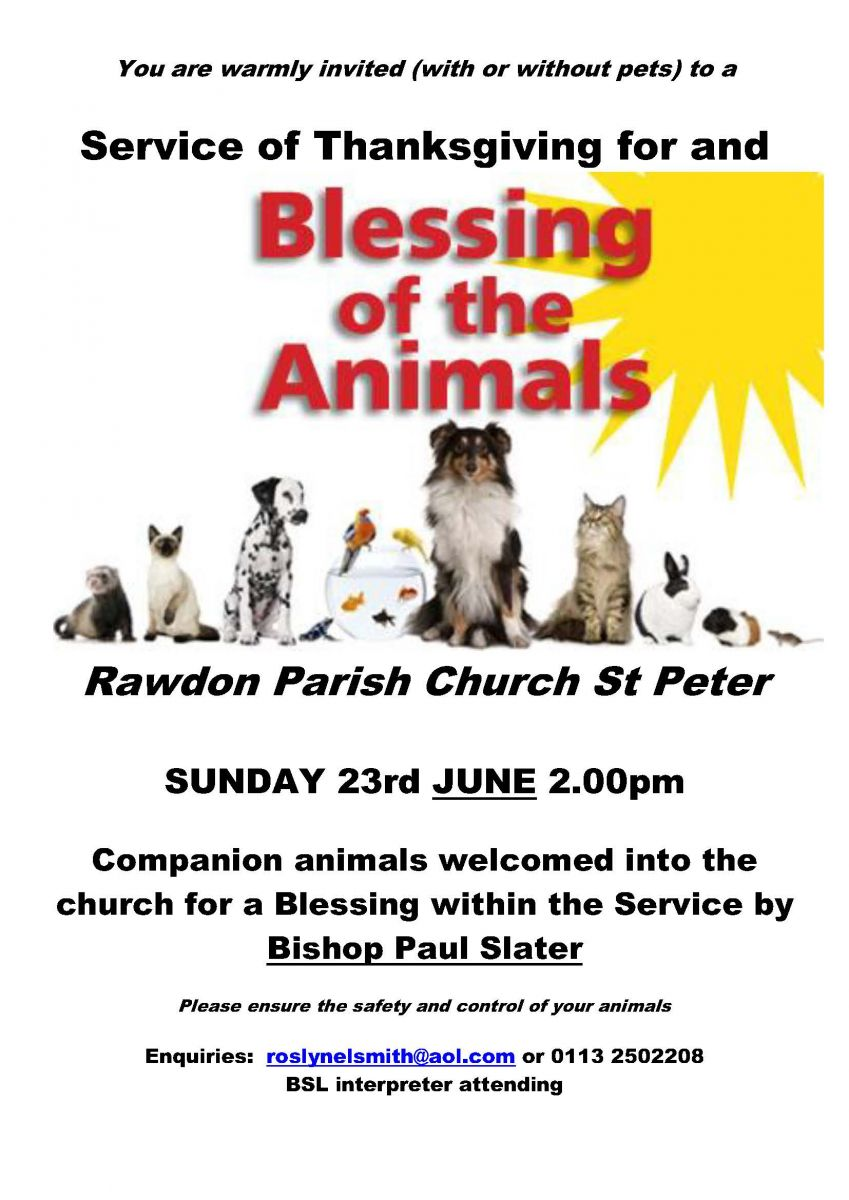 BSL Interpreted Animal Blessing Service @ St. Peter's Church