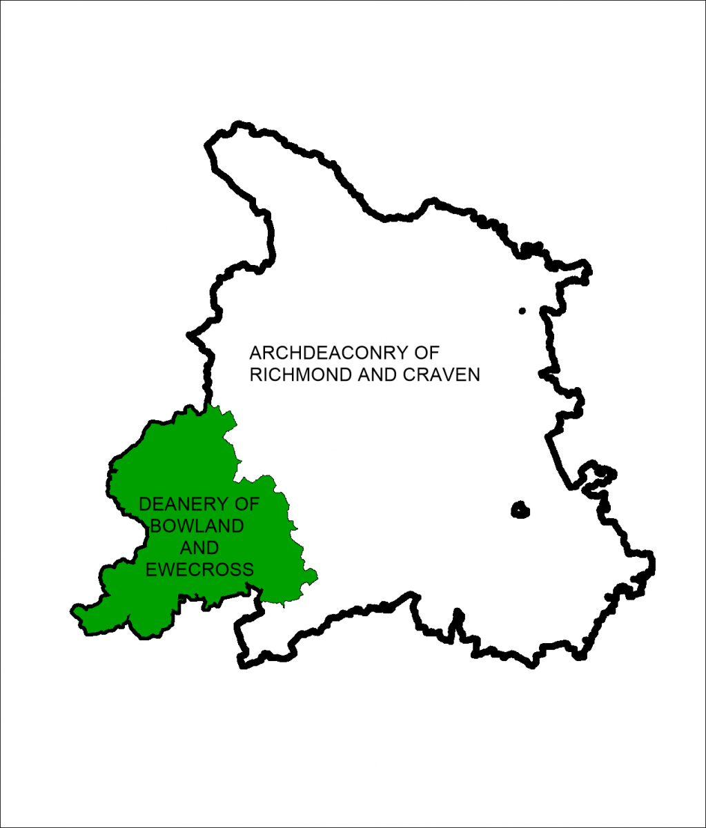 Map of Bowland and Ewecross