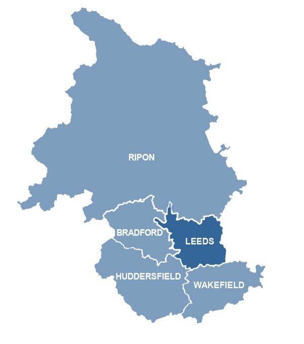 Leeds Area map