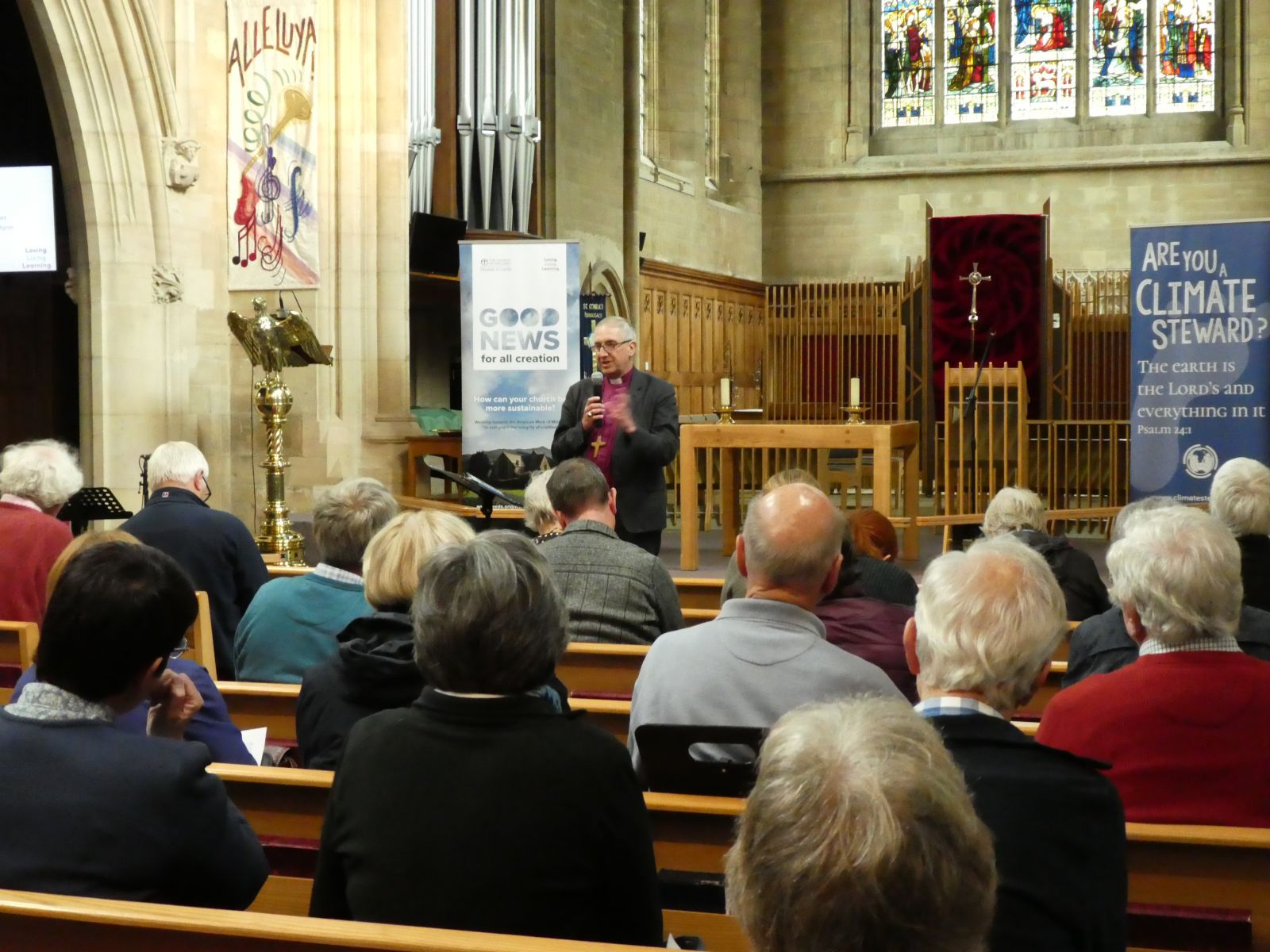 Bishop Paul Slater speaking to the audience