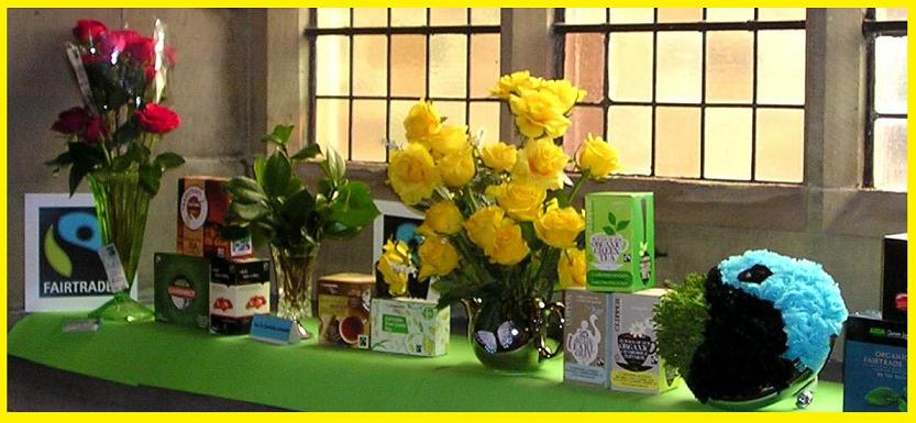 Fairtrade Tea and Roses at Flower Festival St Peter's Shipley 2016