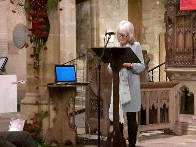 Jilly Cooper at Bradford Cathedral