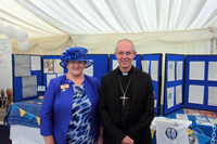 Archbisop Welby with Lynne Temby