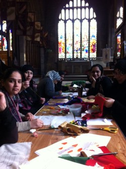 A sewing class in Halifax Minster