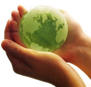 Earth in human hands image