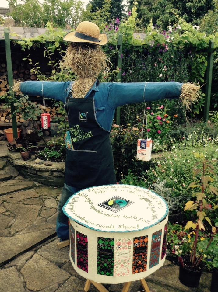 Fairtrade scarecrow at Baildon Festival