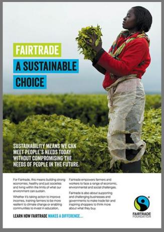 Fairtrade A Sustainable Choice Leaflet