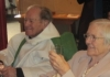 Canon Leslie Chadd celebrates with his wife Margaret 70 years a priest and their 60th wedding anniversary