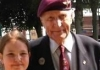 Cassidy Weidemann with D-Day Veteran Jock Hutton at Ripon Racecourse this week when they held a special Remembrance service on the track to mark the centenary of the First World War
