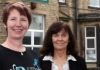 Kirkheaton churchgoer Jill (left) with Helga Taylor from the United Churches Healing Ministry. Credit: Huddersfield Examiner