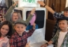 Children from hoylandswaine church use cardboard boxes and drama to tell their harvest story
