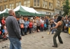Fire juggling at Love Calderdale in Halifax