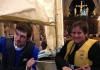 Andi and Simon advertising their project in Wakefield Cathedral