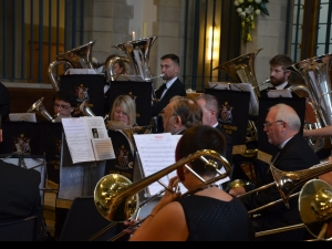 Bishop Nick welcomed by the City of Bradford Brass Band