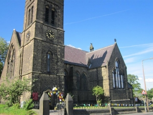 St Thomas Greetland gets ready for le Tour