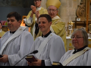 Chris Lawton, Mark Harlow and Sharon Brown - just some of our new deacons