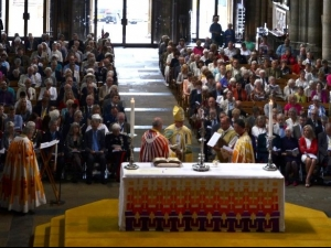 Congregation in Ripon Cathedral