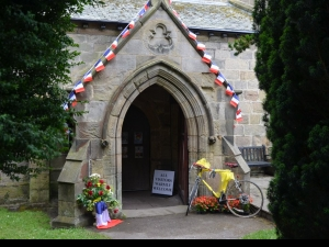 All Saints Ripley which is open to Tour de France visitors all week