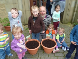 Older help younger at St Cuthbert's in Huddersfield