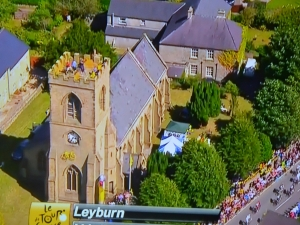 Leyburn - one of many fantastic overhead shots of churches en route