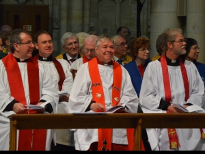 Cathedral Deans and Chapters enjoying the opening welcomes