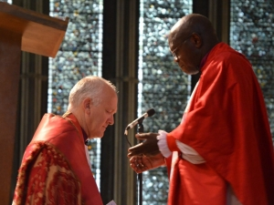 The Archbishop of York who preached and presided at the service prays for Bishop Nick