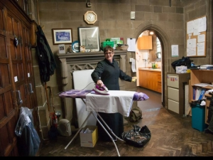 Head verger ironing