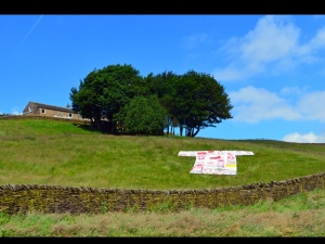 Giant T shirt made by Holme Valley church and community