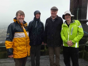 Braving the elements to welcome le Tour at St Mary's, Honley