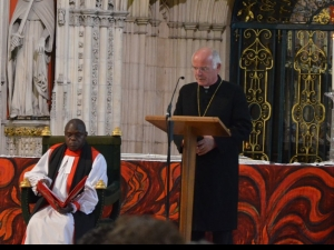 Bishop Friedrich Weber of the Evangelical Lutheran Church in Brunswick and co-chair of the Meissen Commission reads the Old Testament reading