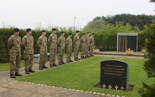 Soldiers from the Army Training College, Harrogate