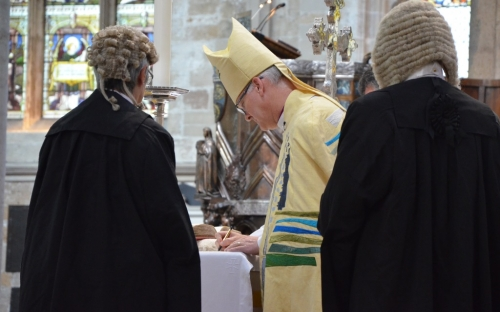 Legally enthroned in Ripon Cathedral