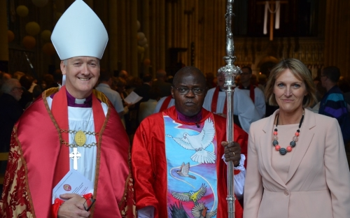Bishop Nick, the Archbishop of York and Linda