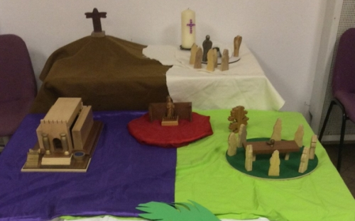 Easter Garden Service at Seacroft telling the story of the trial and death of Christ