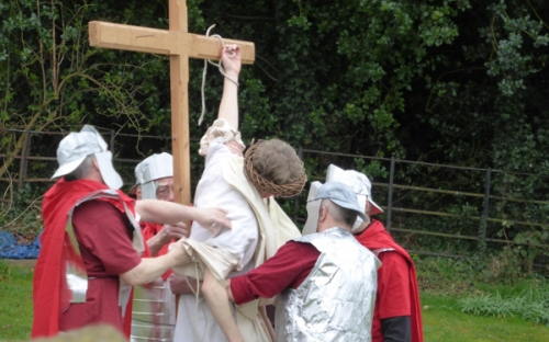 Jesus is taken down from the cross at Settle Passion Play