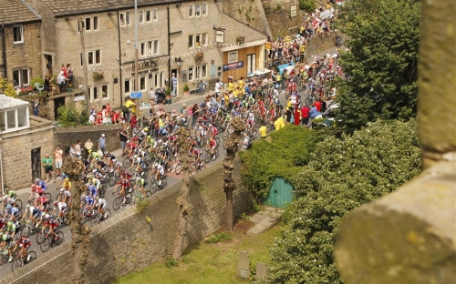 Fantastic view of le Tour from the tower of St David's Church, Holmbridge