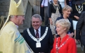 Bishop Nick greeted by the mayors