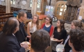 Toby meets young people from Bradford over lunch