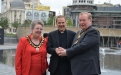 Toby meets the Lord Mayor of Bradford, Mike Gibbons, the Lady Mayoress, Elizabeth Sharp.