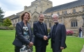 Greeted at Bradford cathedral by the Very Revd Jerry Lepine, the Dean of Bradford.
