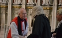 Bishop Nick greets more colleagues