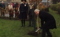 Bishop Jonathan plants a tree to commemorate WW1